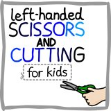 Left handed scissors and cutting guide